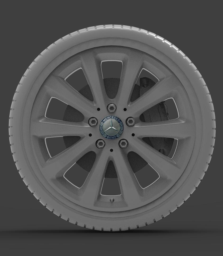 mercedes e 350 d alloy wheel 3d model max fbx ma mb obj 286186