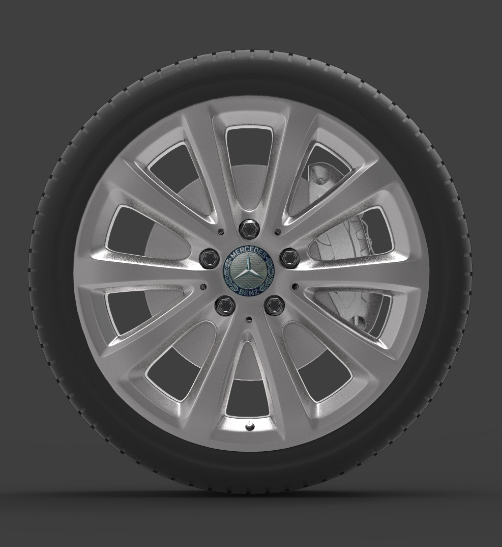 mercedes e 350 d alloy wheel 3d model max fbx ma mb obj 286187