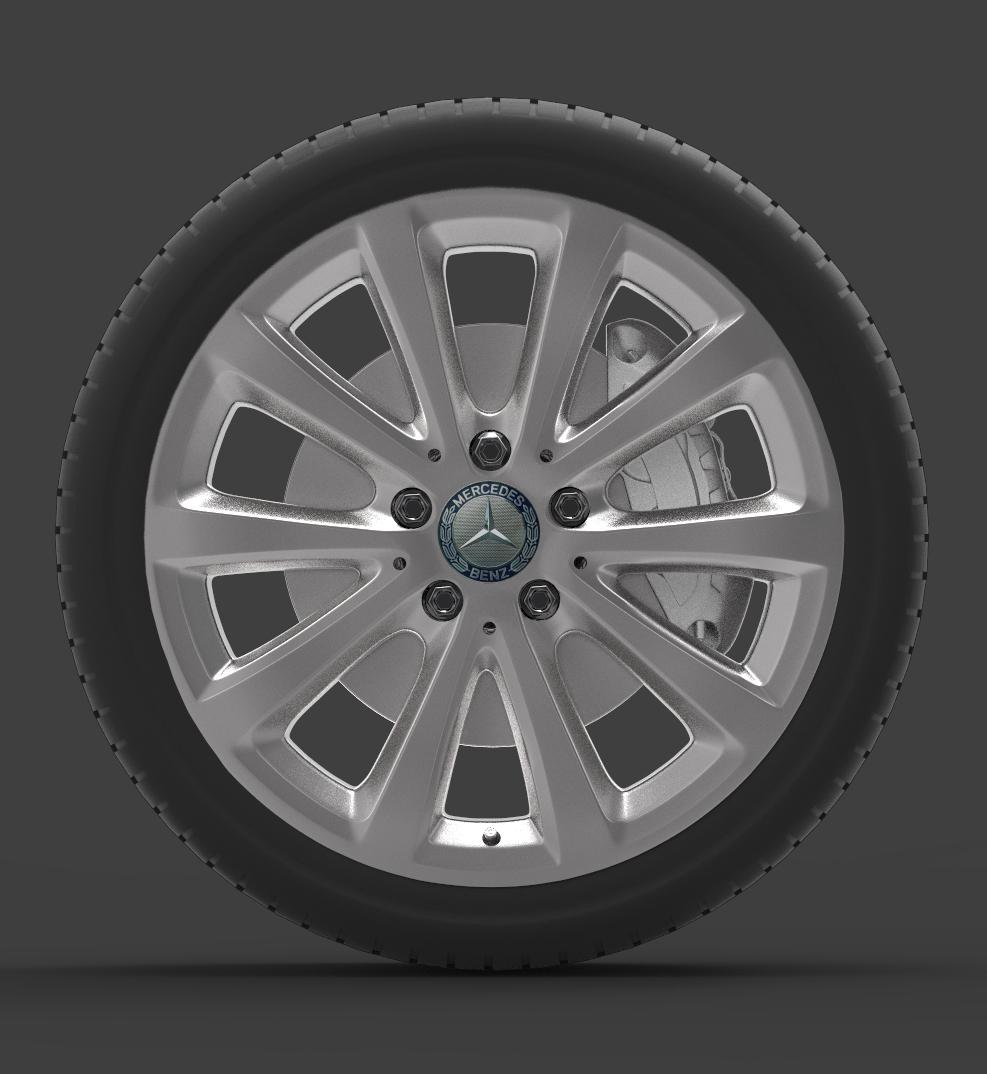 Mercedes E 350 d Alloy Wheel 3d model max fbx ma mb obj 286187