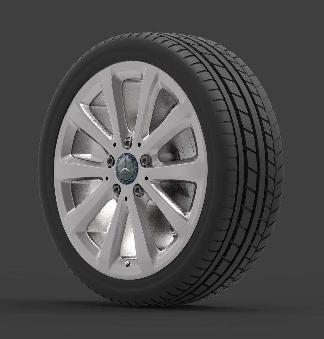 mercedes e 350 d alloy wheel 3d model max fbx ma mb obj 286188