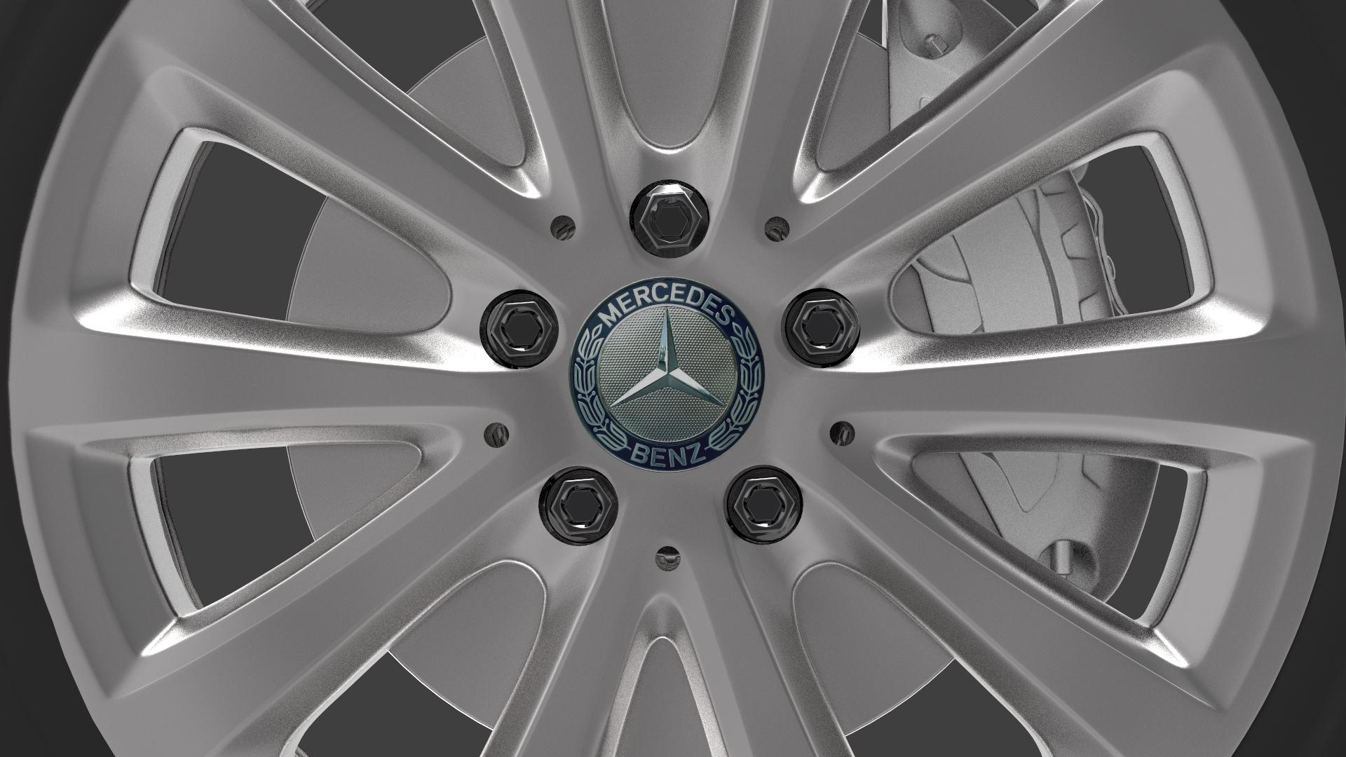 mercedes e 350 d alloy wheel 3d model max fbx ma mb obj 286190