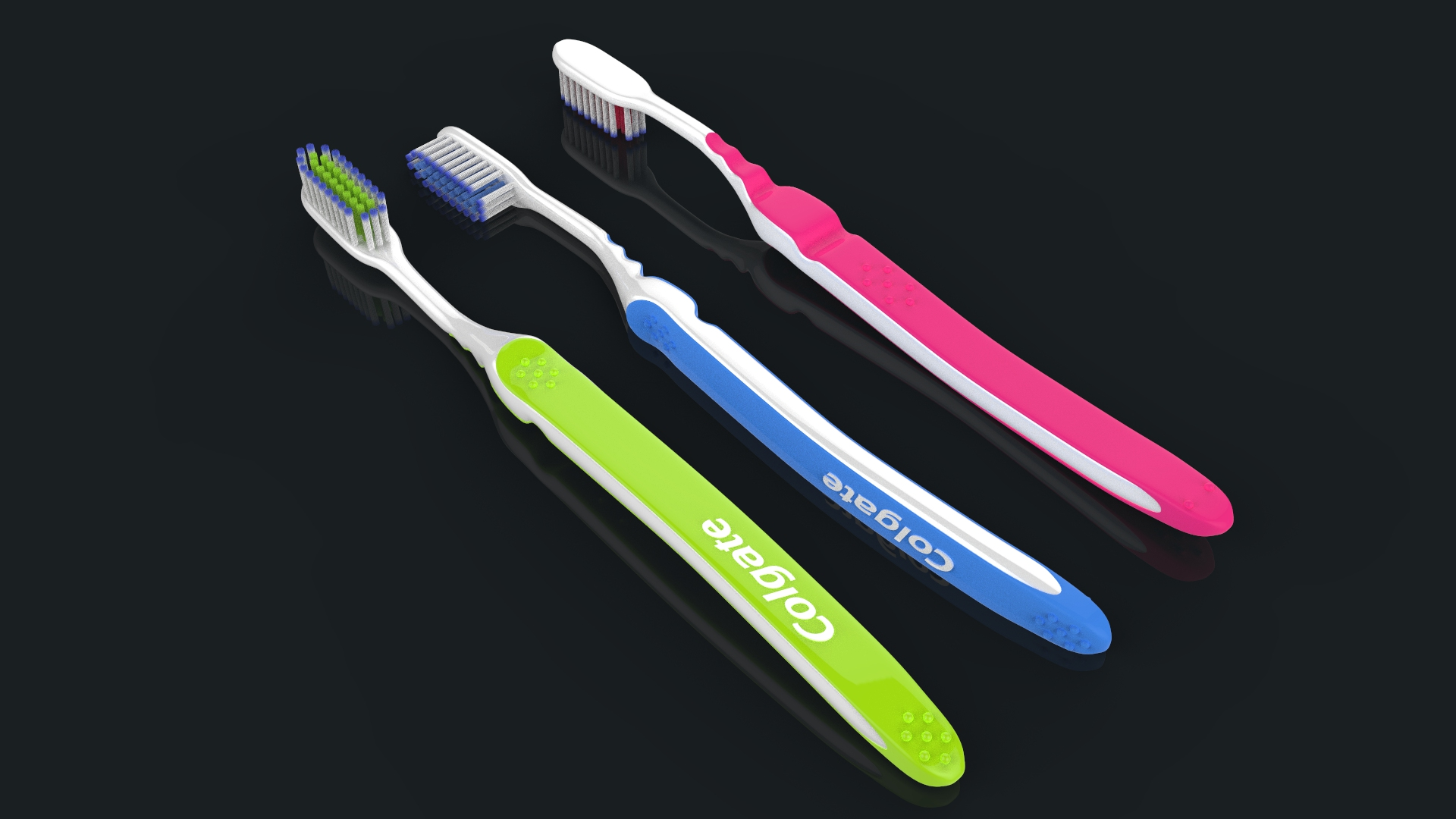 toothbrush with toothpaste 3d model max fbx ma mb obj 286200