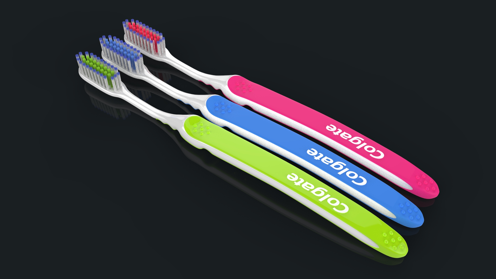 toothbrush with toothpaste 3d model max fbx ma mb obj 286201