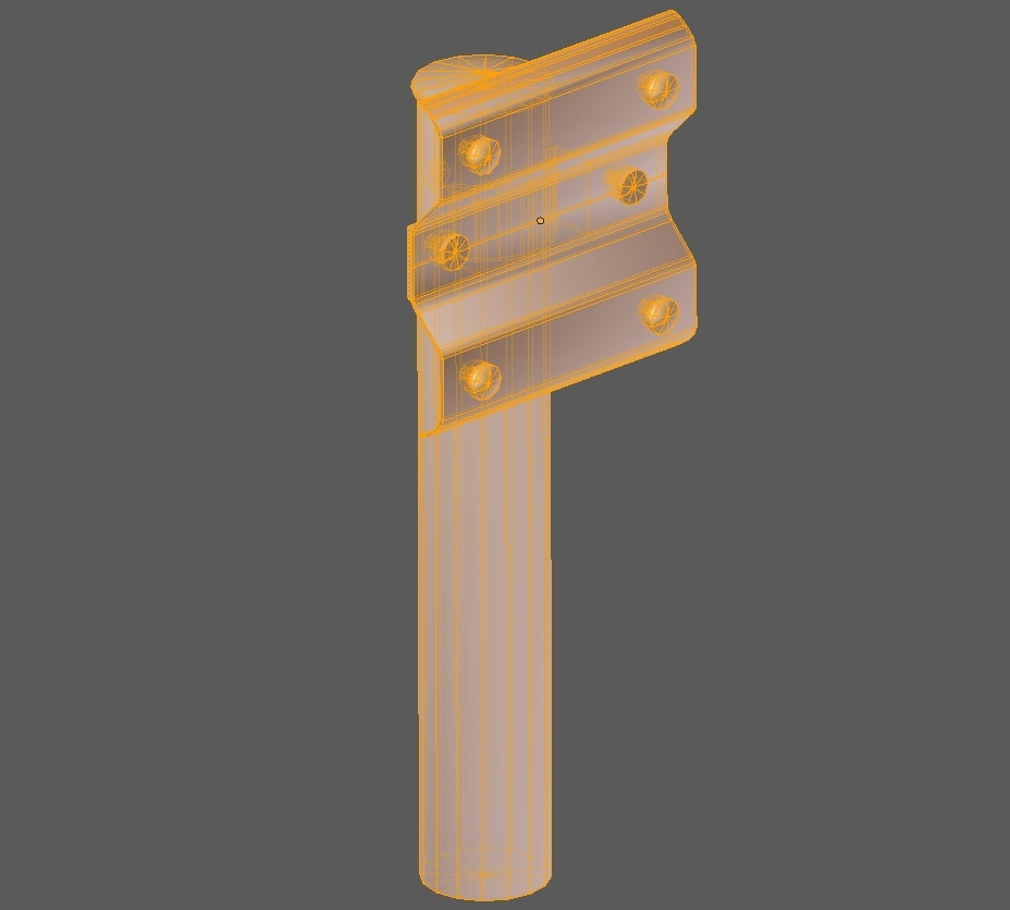 guardrail – japanese curved and dirty – low poly 3d model 3ds fbx 286245