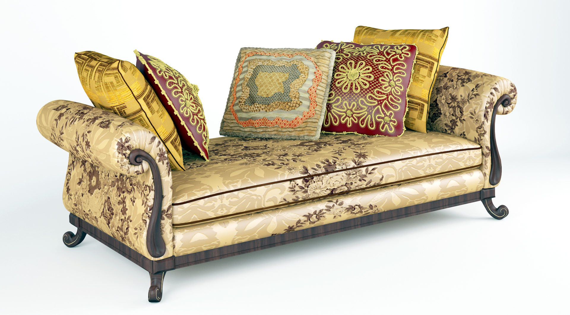 royal sofa with pillows 3d model max fbx ma mb obj 286254