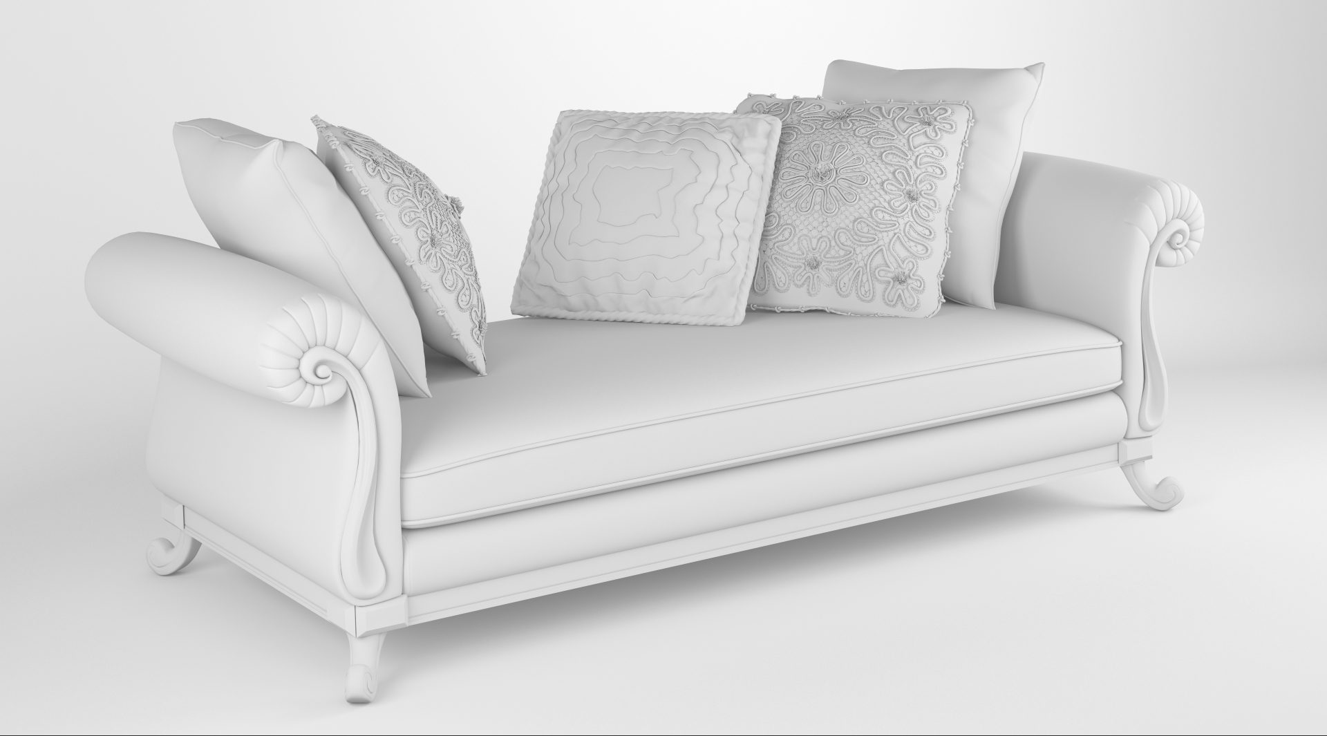 royal sofa with pillows 3d model max fbx ma mb obj 286259