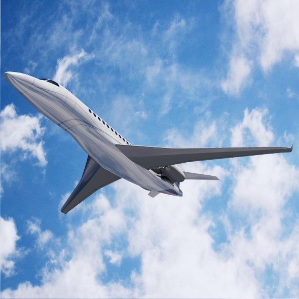 lowpoly dassault falcon 8x private jet 3d model 3ds fbx blend dae lwo obj 288075