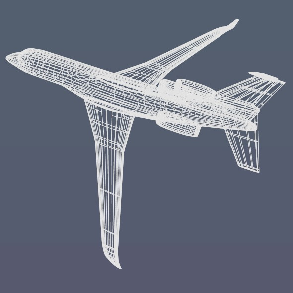 lowpoly dassault falcon 8x private jet 3d model 3ds fbx blend dae lwo obj 288081