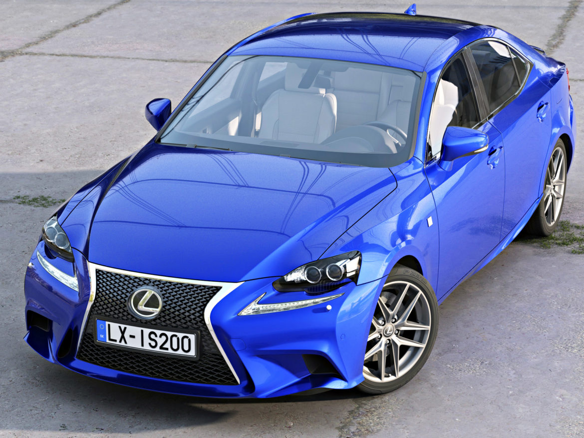 lexus is f-sport 2016 3d model 3ds max fbx c4d obj 288094