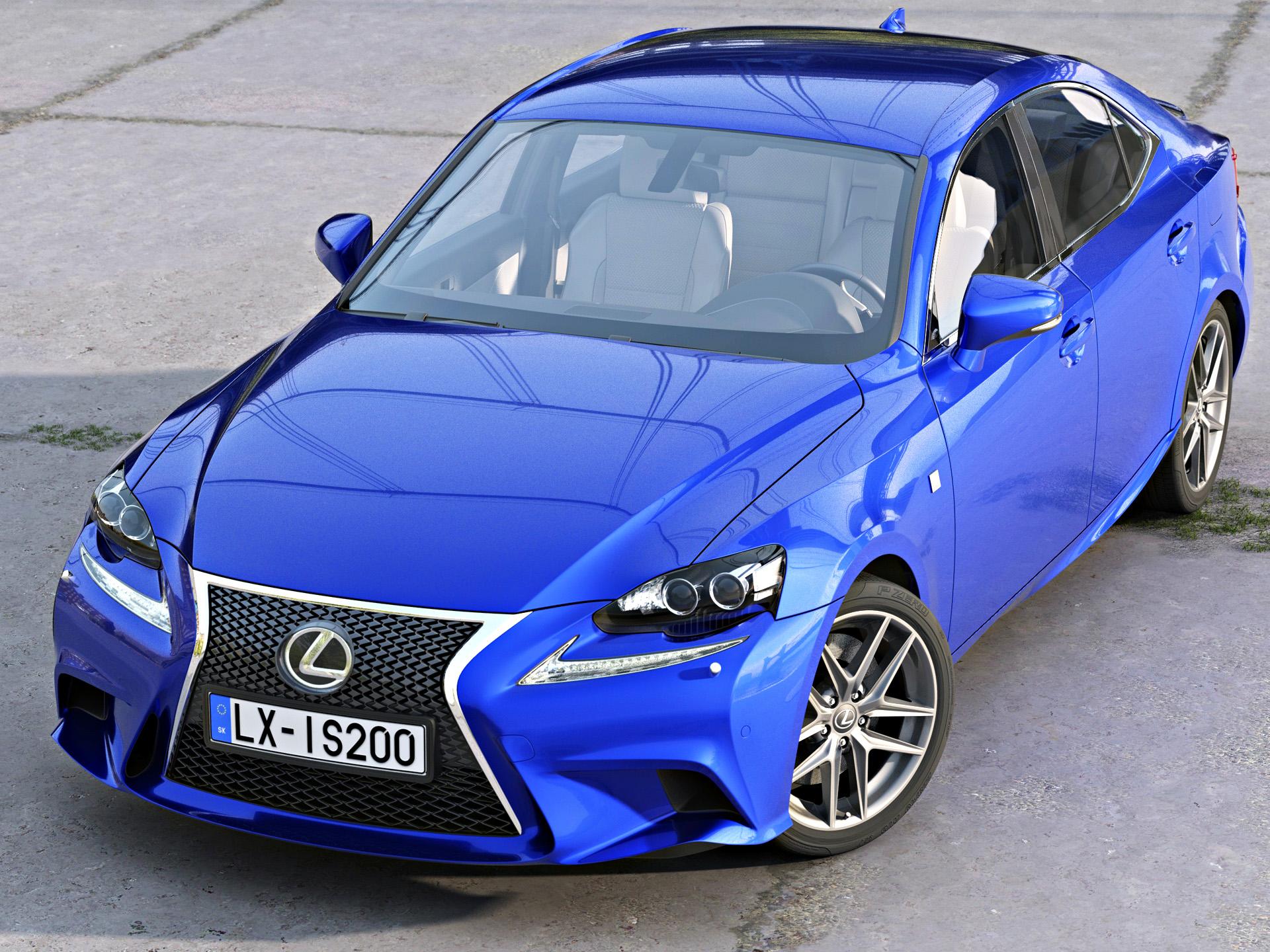 Lexus IS F-Sport 2016 3d model 3ds max fbx c4d obj 288094