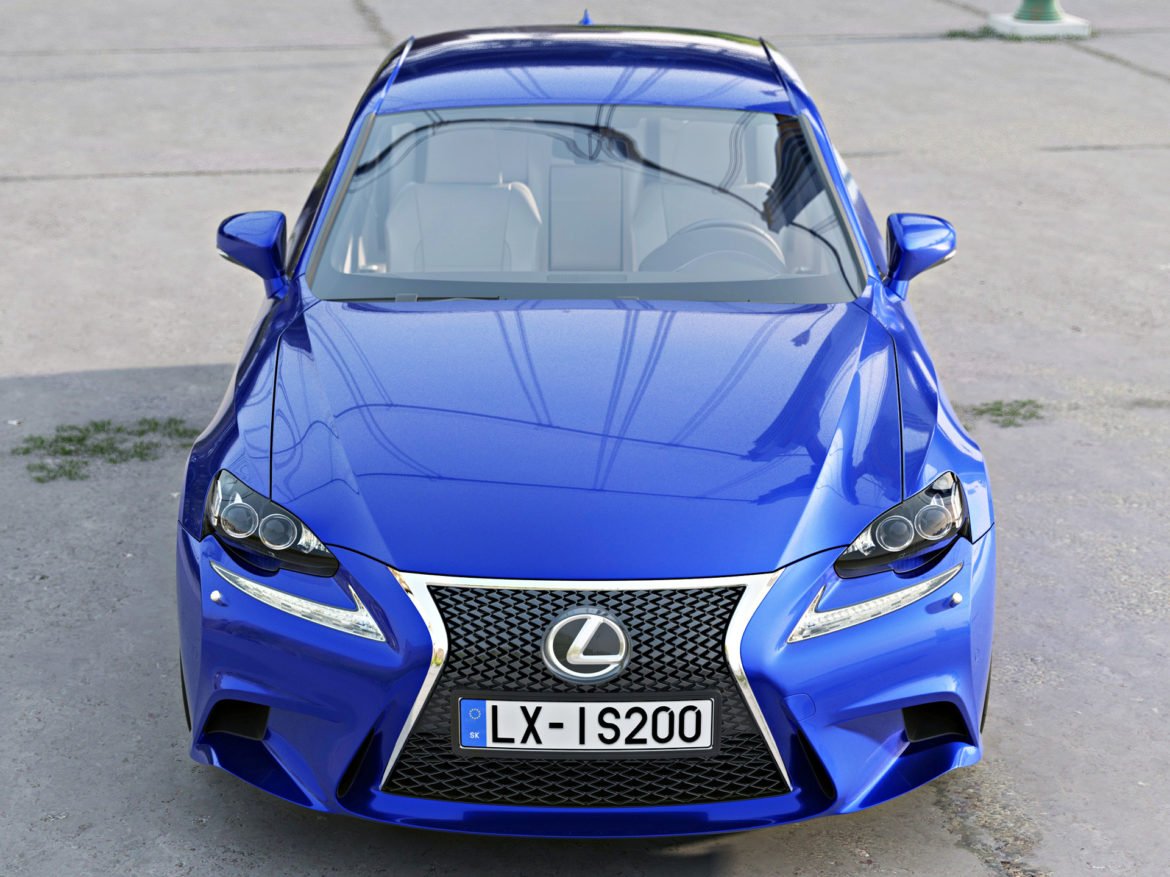 lexus is f-sport 2016 3d model 3ds max fbx c4d obj 288096