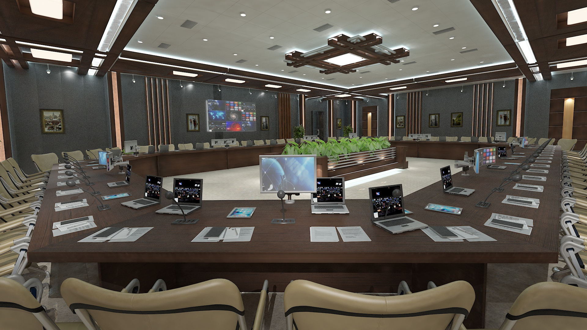 meeting room 1 3d model 3ds max dxf dwg 288109