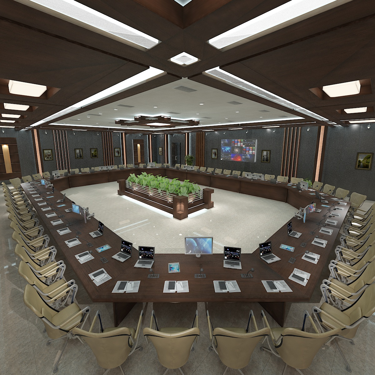 meeting room 1 3d model 3ds max dxf dwg 288110