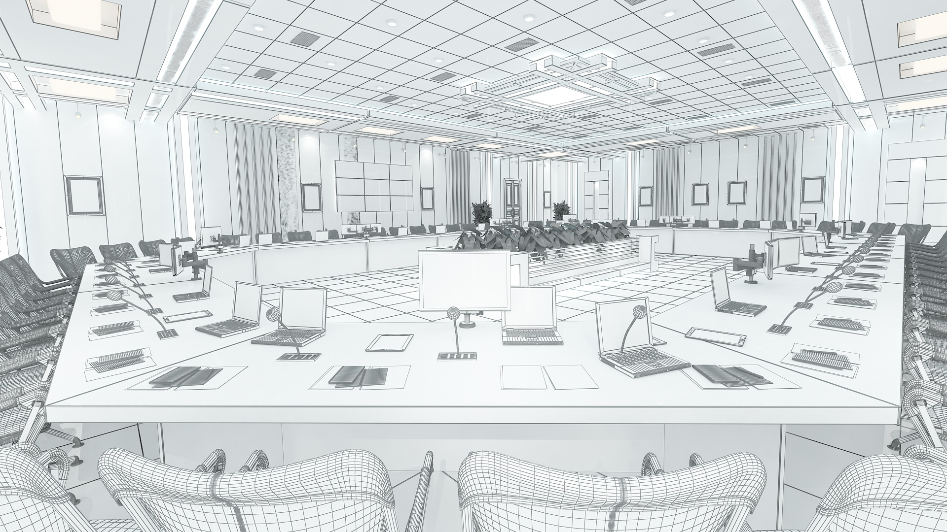 meeting room 1 3d model 3ds max dxf dwg 288111