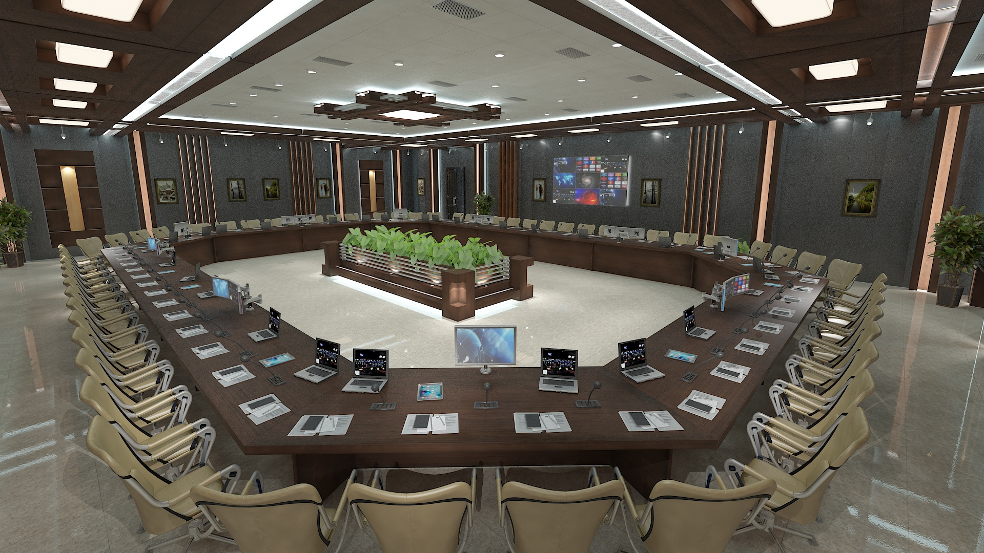 meeting room 1 3d model 3ds max dxf dwg 288112