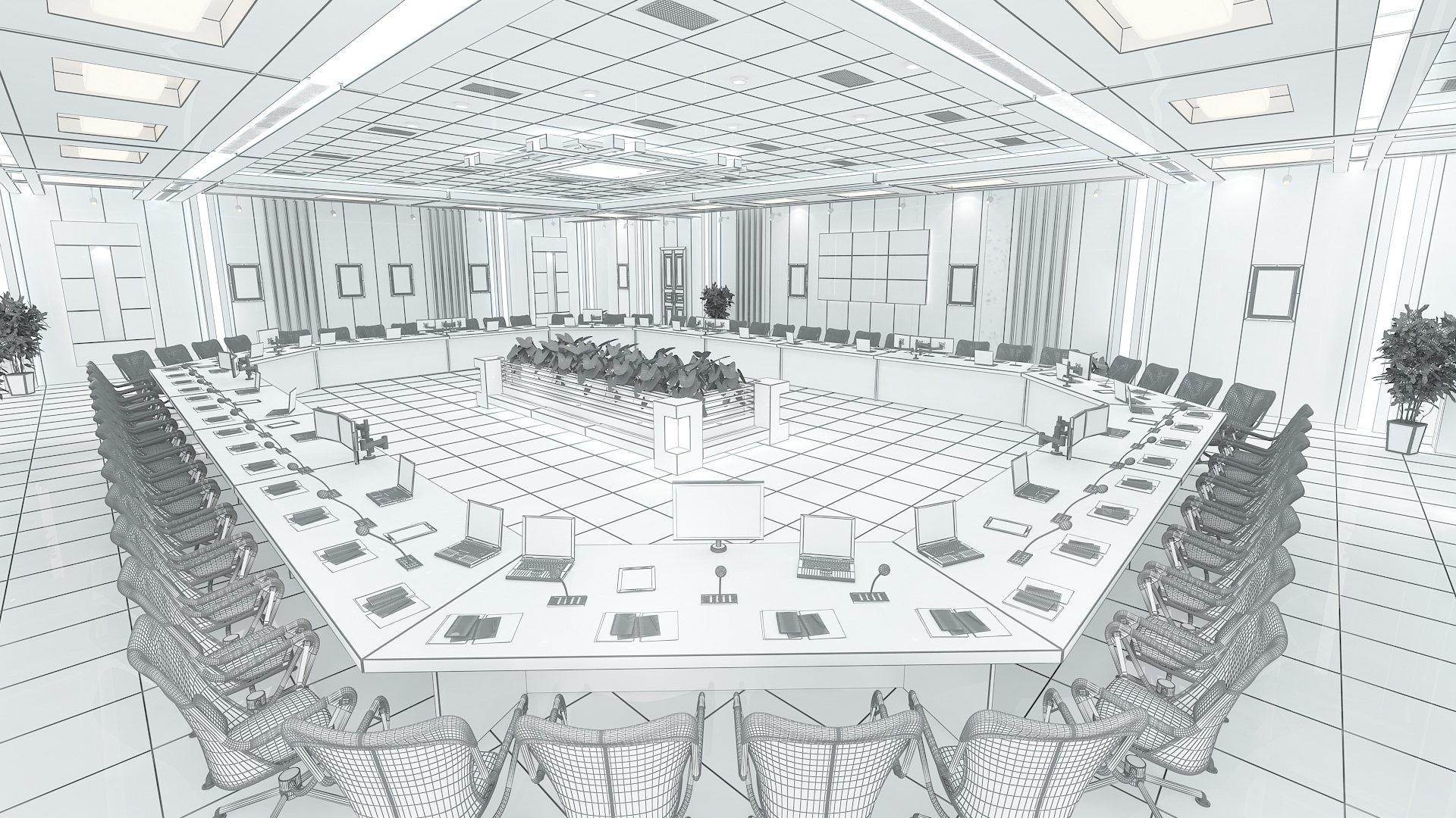 meeting room 1 3d model 3ds max dxf dwg 288113