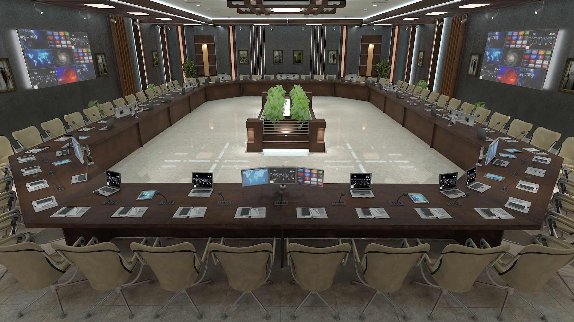 meeting room 1 3d model 3ds max dxf dwg 288114