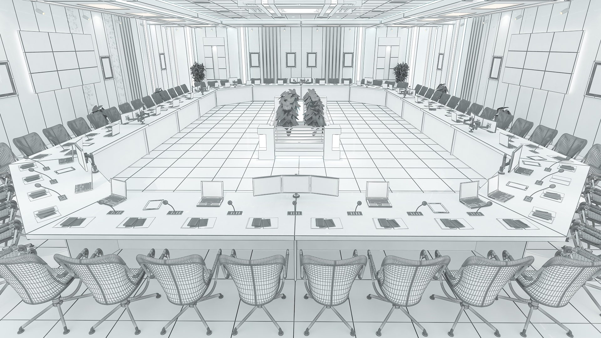 meeting room 1 3d model 3ds max dxf dwg 288115