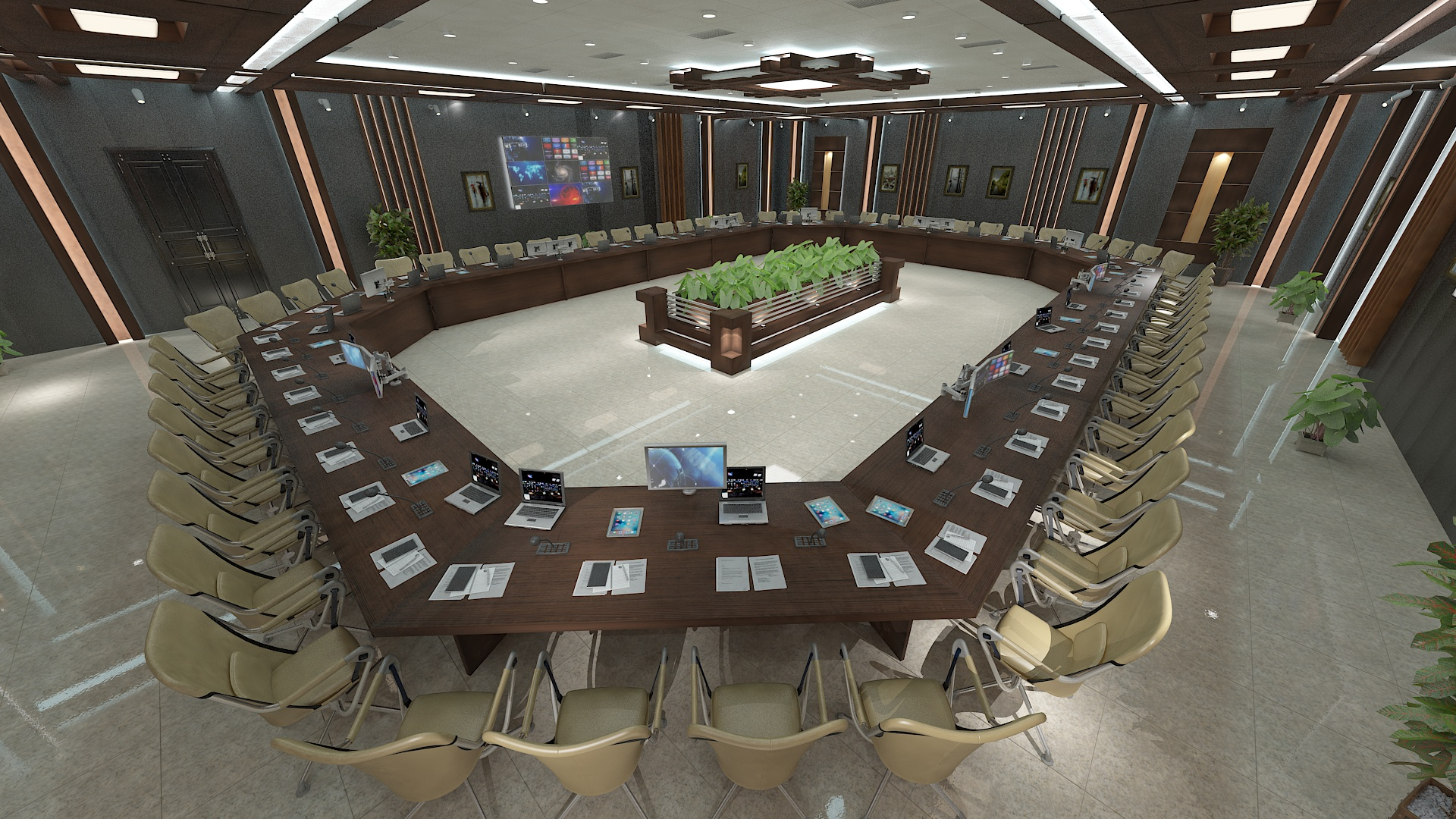 meeting room 1 3d model 3ds max dxf dwg 288116