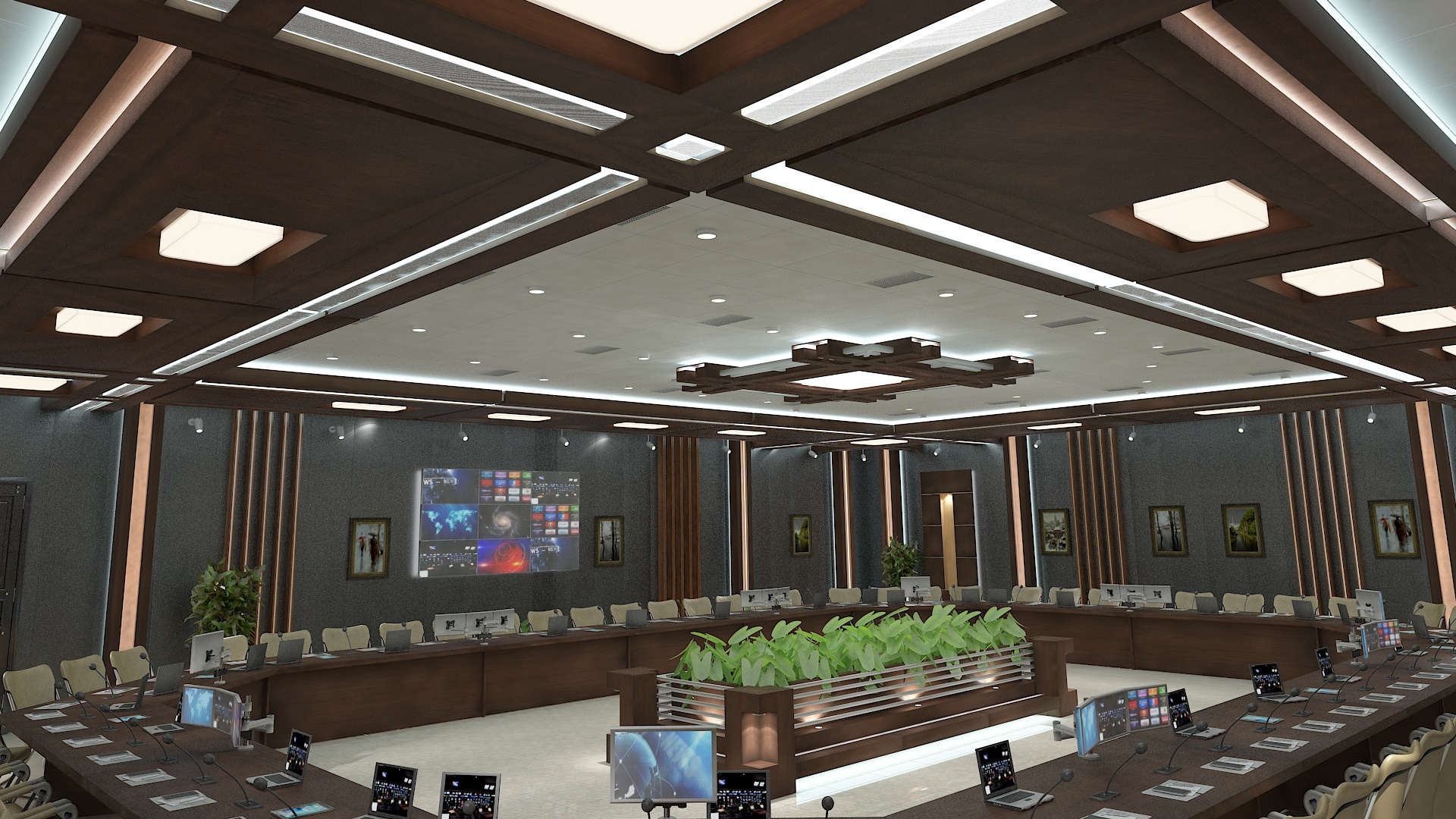 meeting room 1 3d model 3ds max dxf dwg 288118