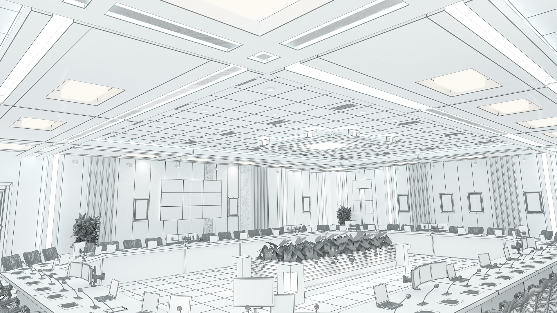 meeting room 1 3d model 3ds max dxf dwg 288119