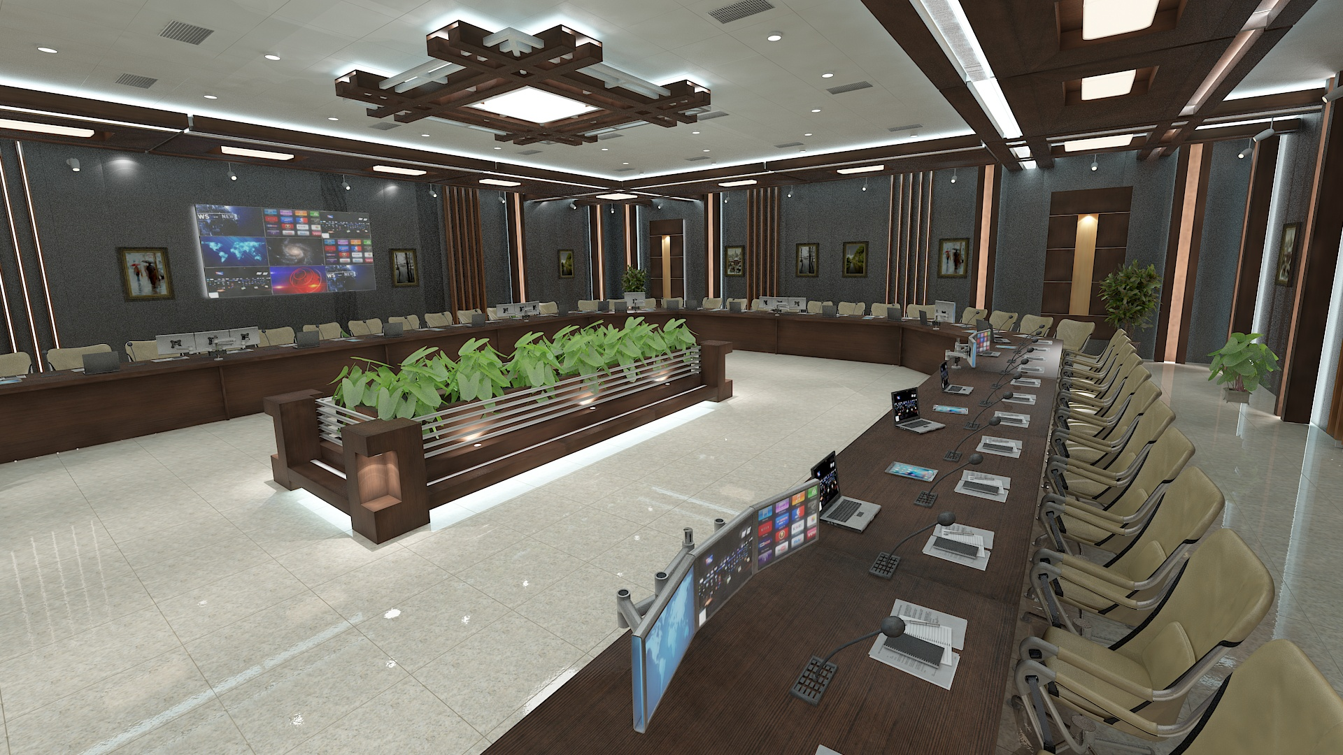 meeting room 1 3d model 3ds max dxf dwg 288120