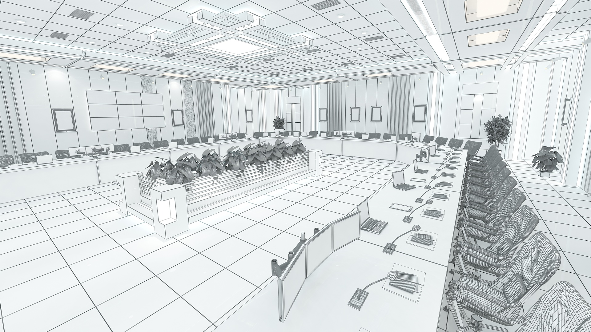 meeting room 1 3d model 3ds max dxf dwg 288121