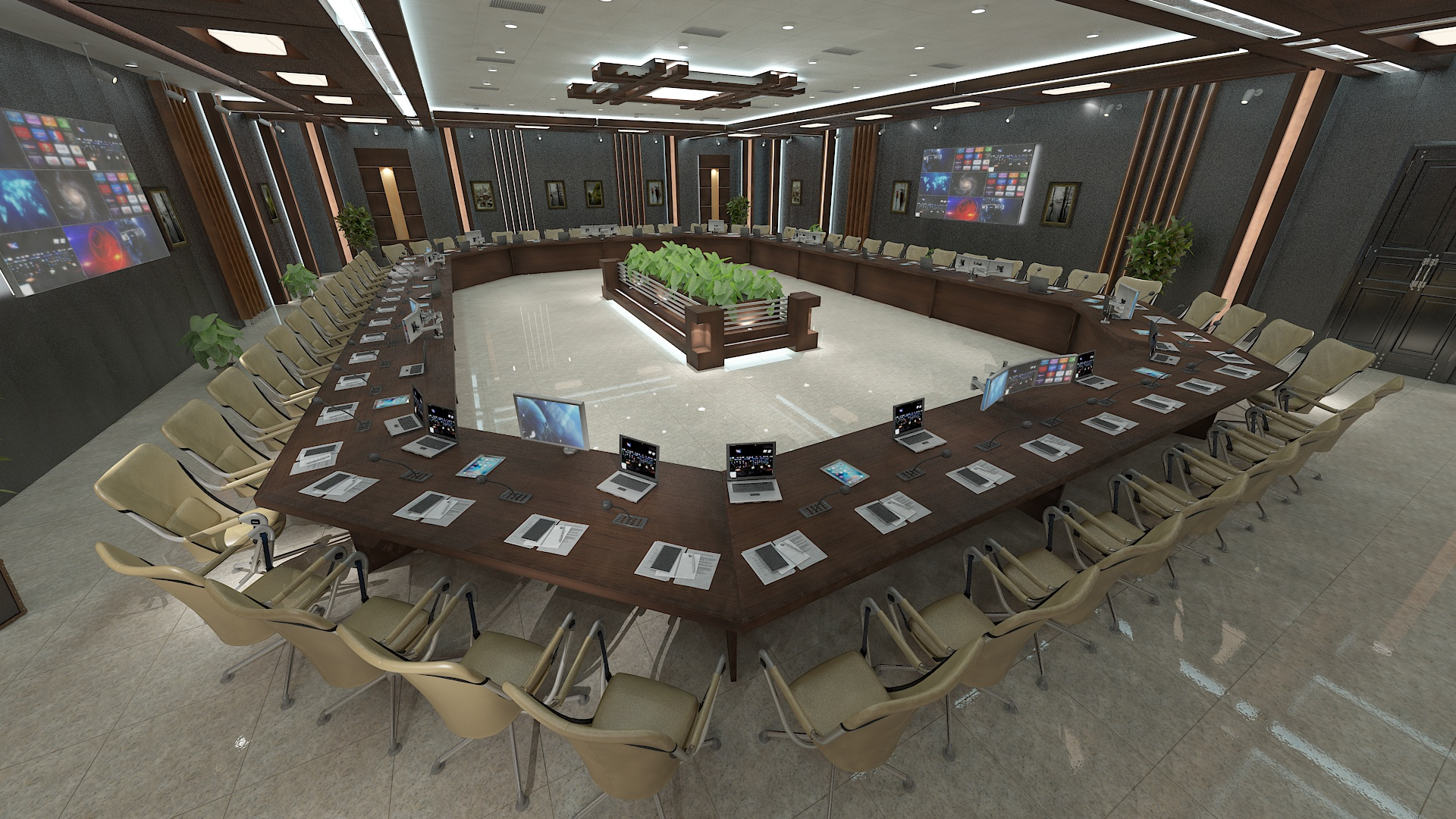 meeting room 1 3d model 3ds max dxf dwg 288122