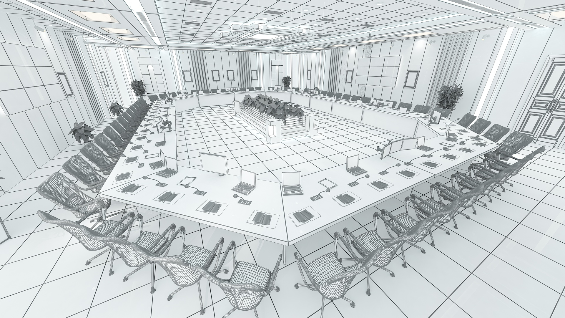 meeting room 1 3d model 3ds max dxf dwg 288123