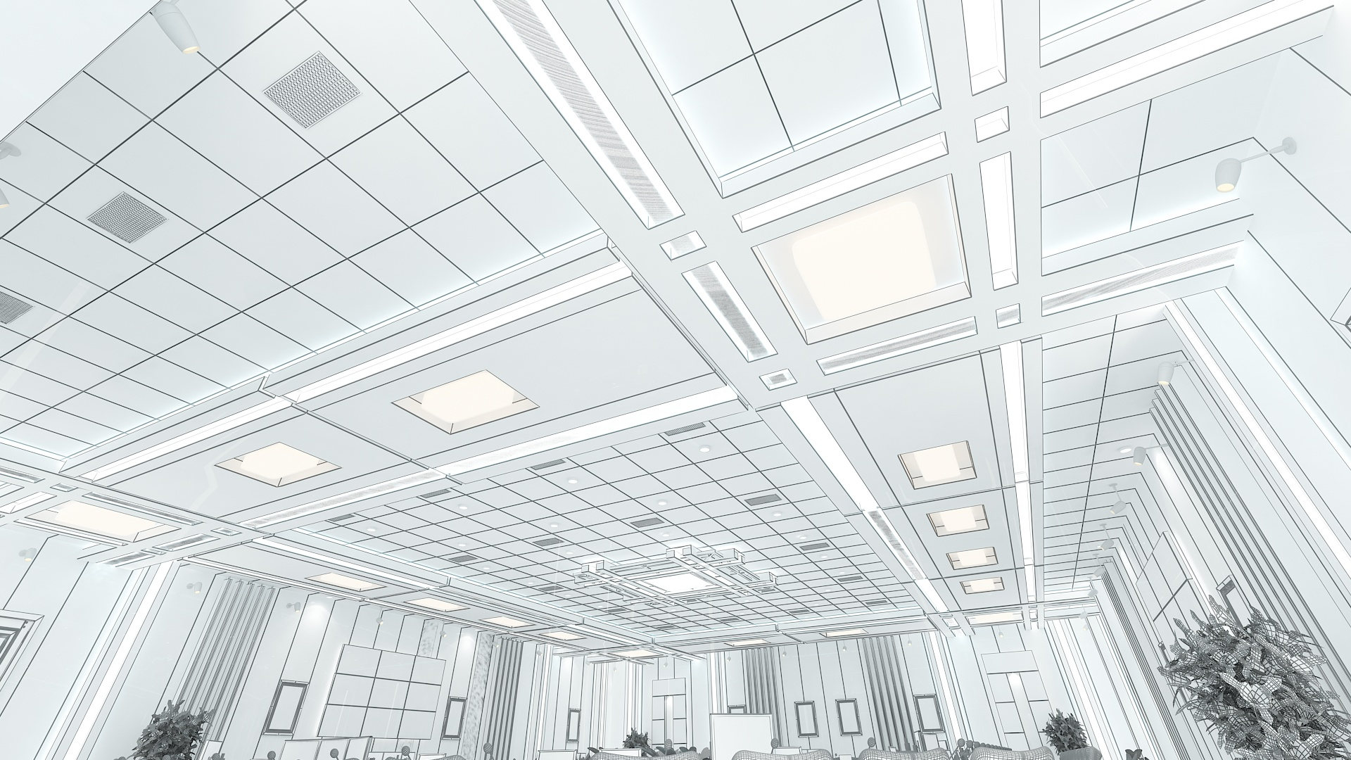 meeting room 1 3d model 3ds max dxf dwg 288125