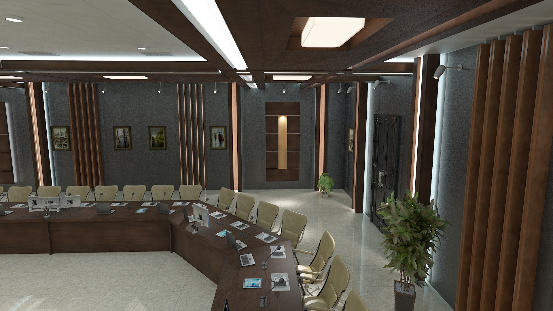 meeting room 1 3d model 3ds max dxf dwg 288132
