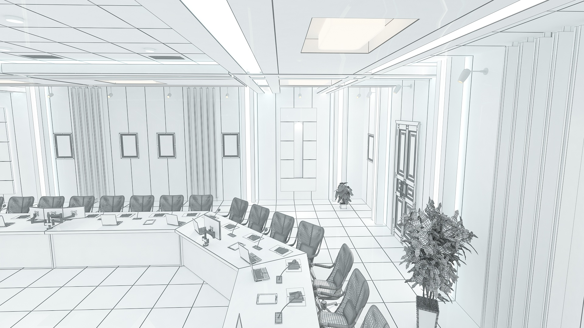 meeting room 1 3d model 3ds max dxf dwg 288133