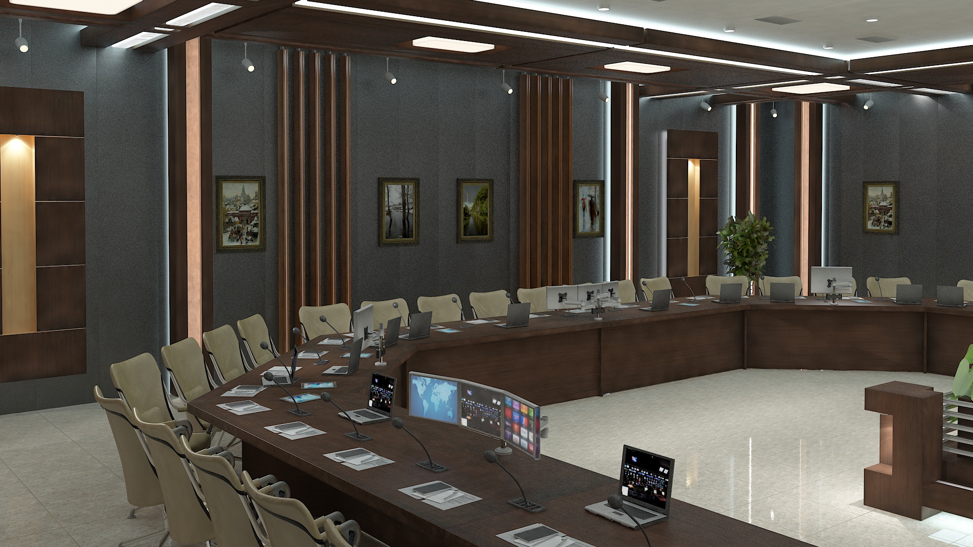 meeting room 1 3d model 3ds max dxf dwg 288134