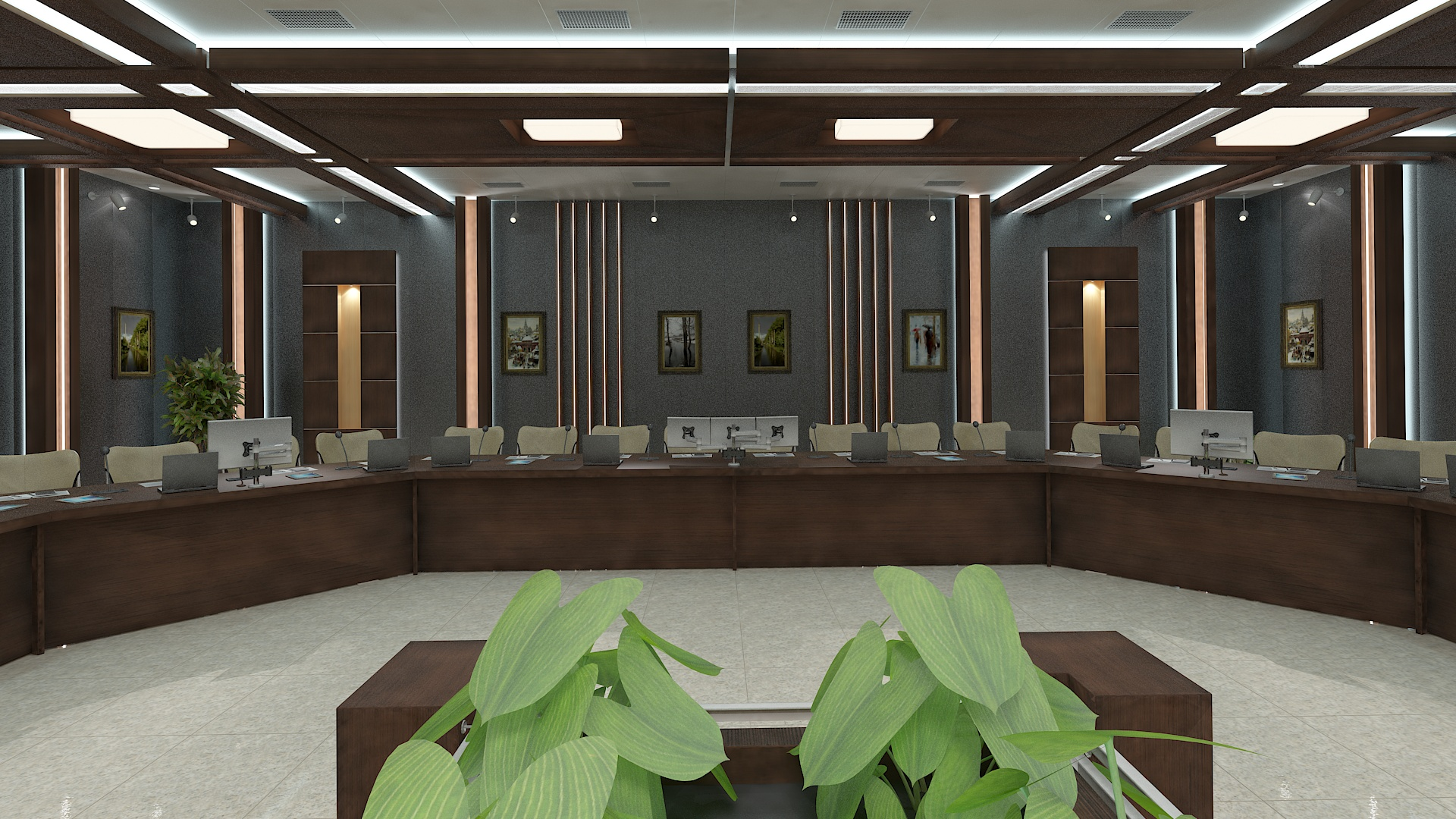 meeting room 1 3d model 3ds max dxf dwg 288135