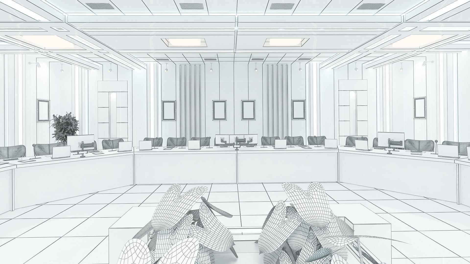 meeting room 1 3d model 3ds max dxf dwg 288136
