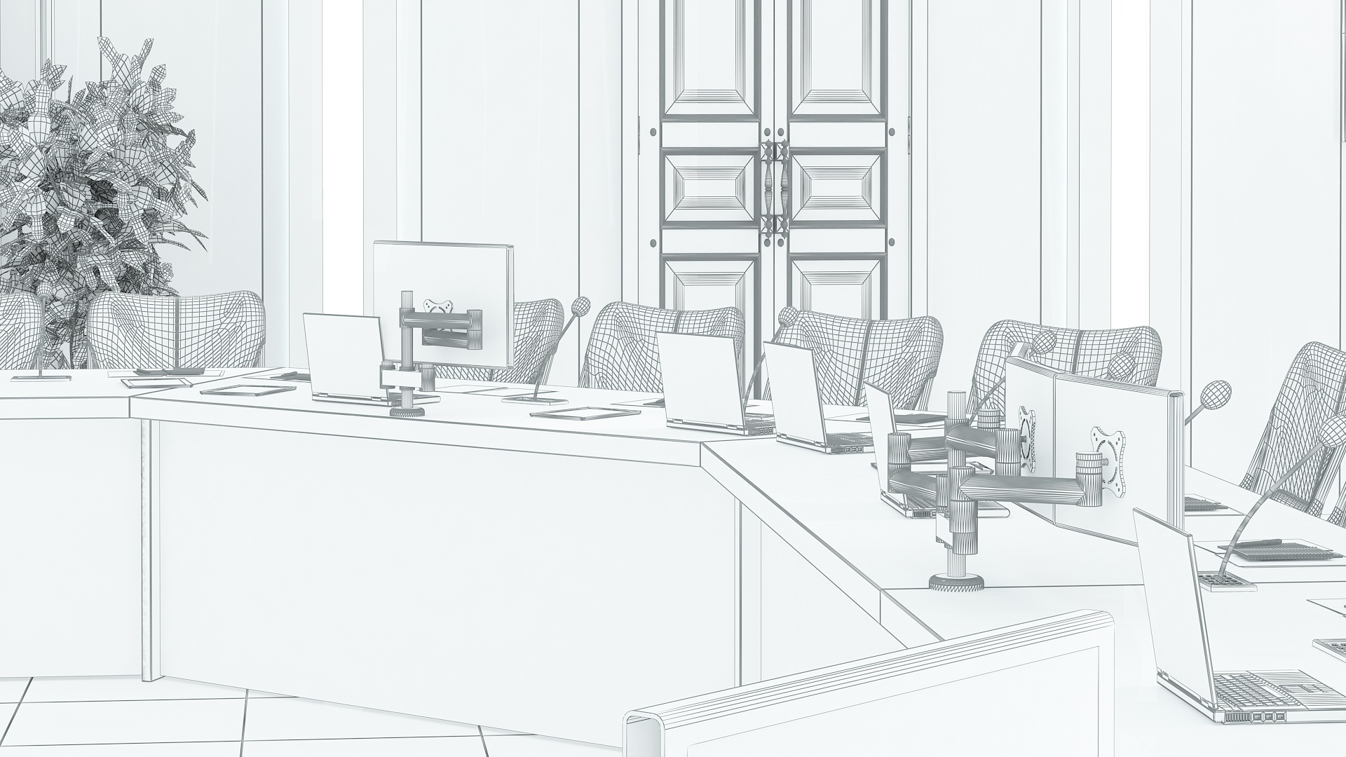 meeting room 1 3d model 3ds max dxf dwg 288140