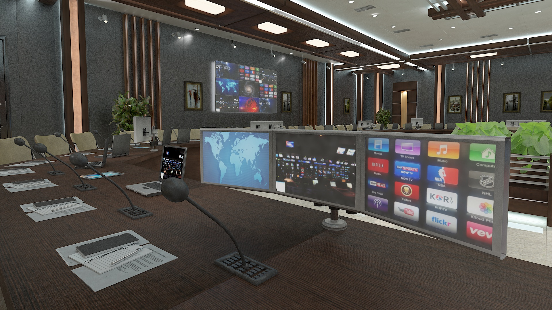 meeting room 1 3d model 3ds max dxf dwg 288141