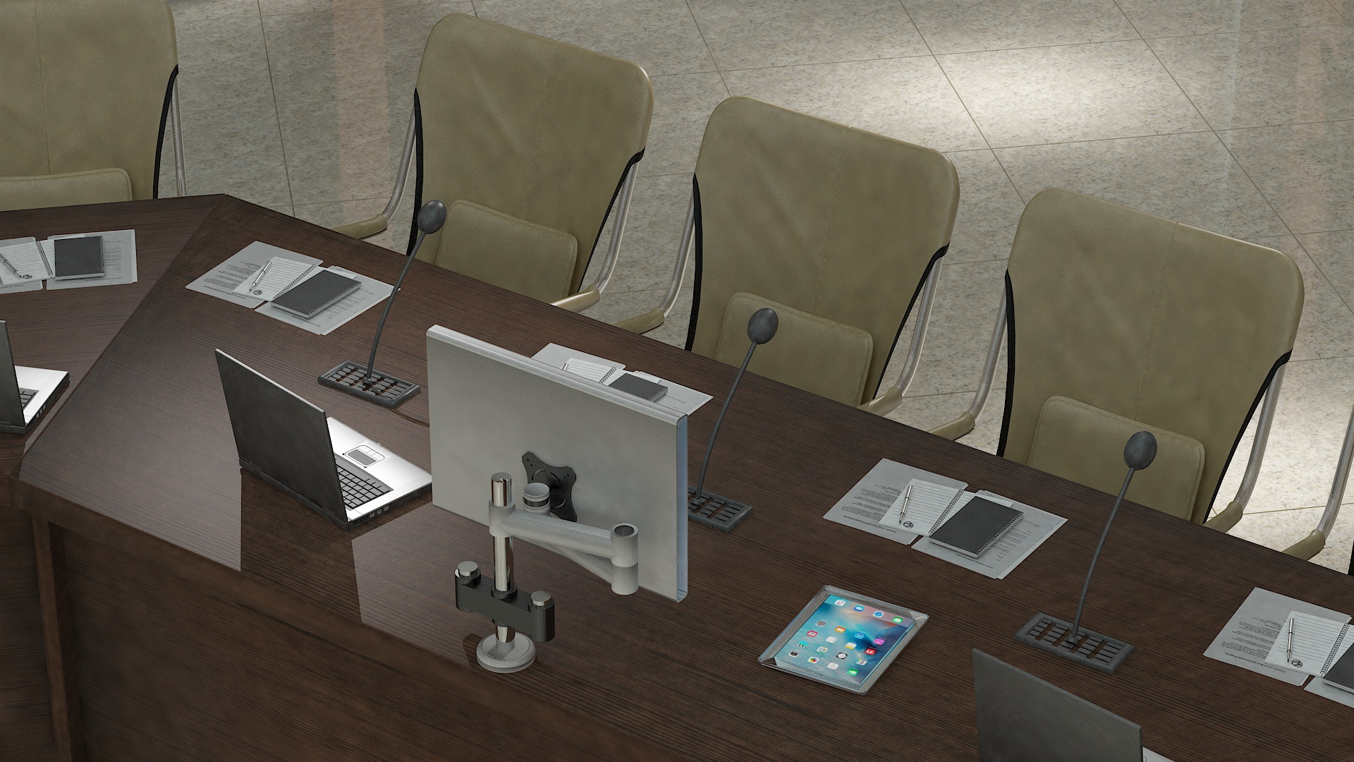 meeting room 1 3d model 3ds max dxf dwg 288143