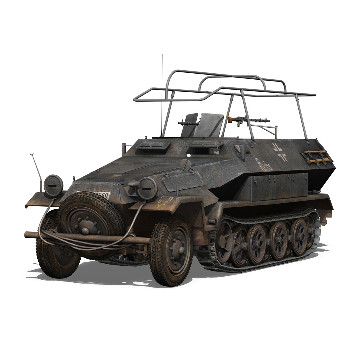 sd.kfz 251 ausf b – communications vehicle – 8pd 3d model 3ds fbx lwo lw lws obj c4d 292025