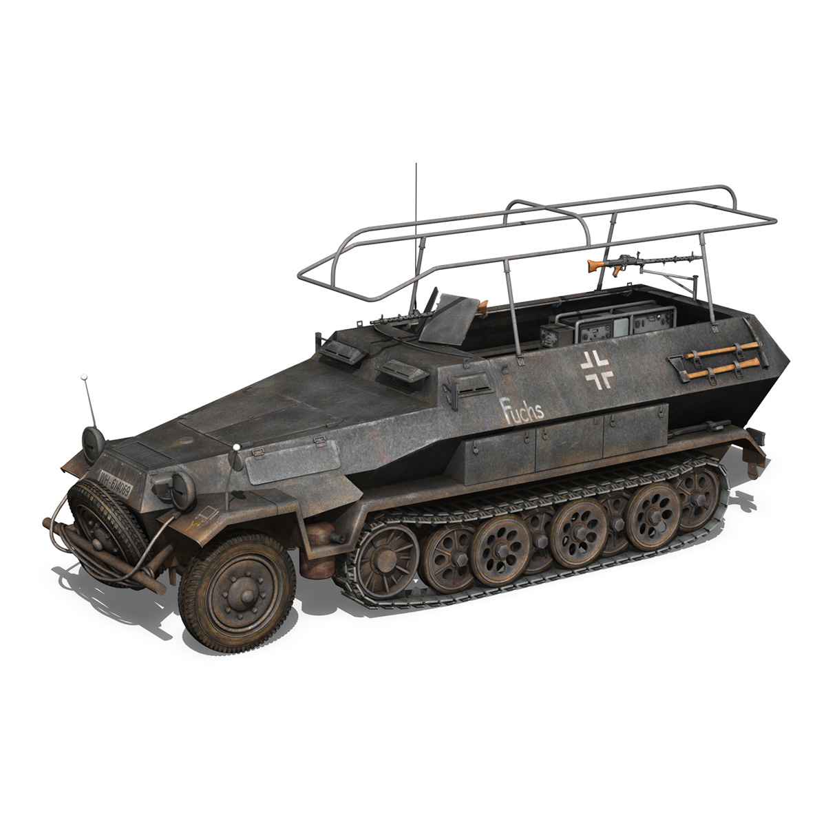 sd.kfz 251 ausf b – communications vehicle – 8pd 3d model 3ds fbx lwo lw lws obj c4d 292026