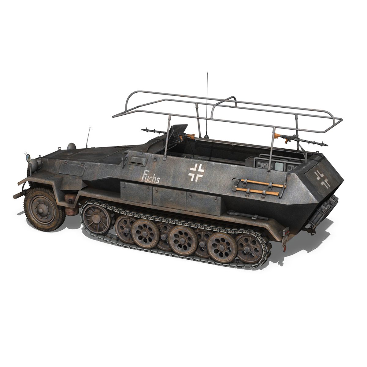 sd.kfz 251 ausf b – communications vehicle – 8pd 3d model 3ds fbx lwo lw lws obj c4d 292027