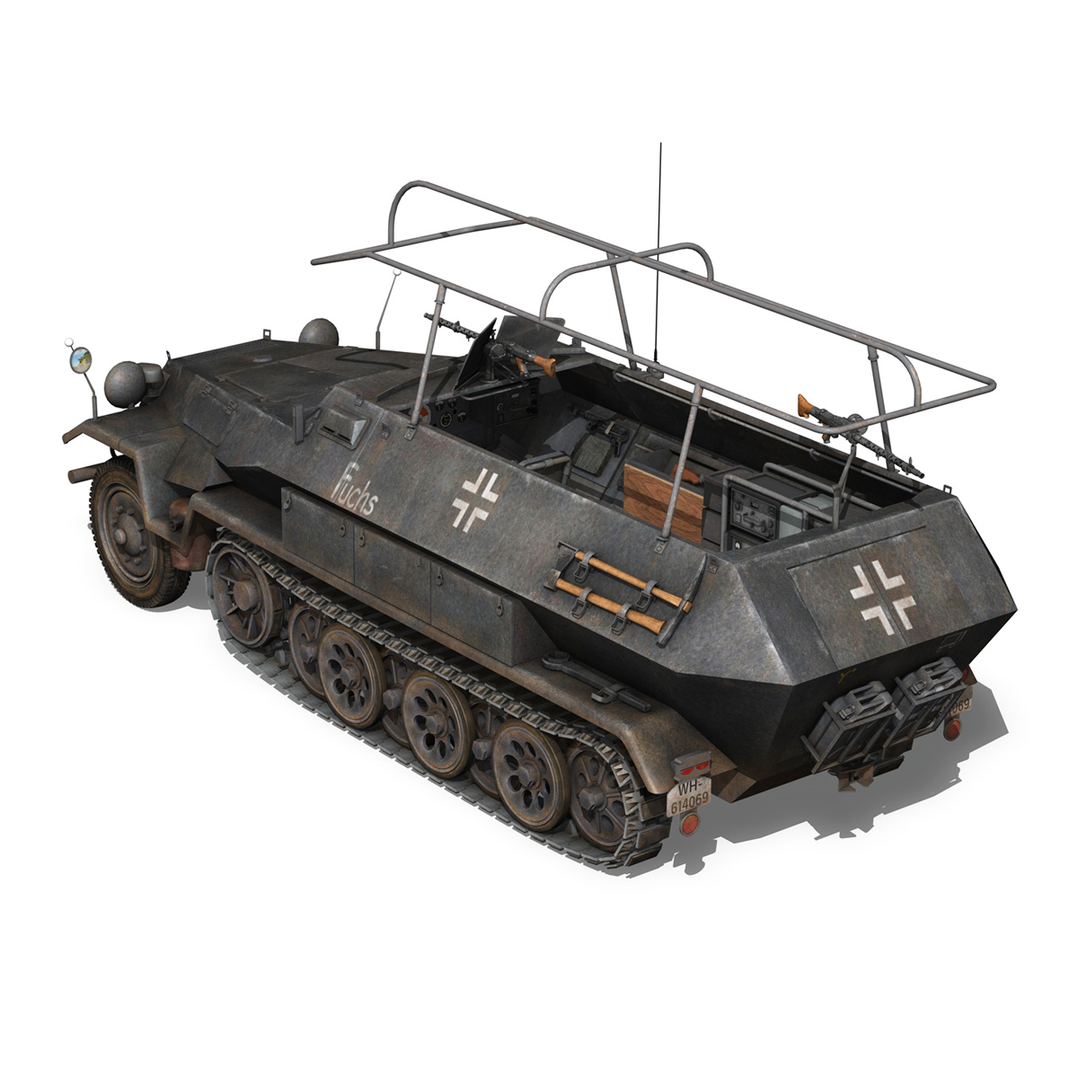 sd.kfz 251 ausf b – communications vehicle – 8pd 3d model 3ds fbx lwo lw lws obj c4d 292028