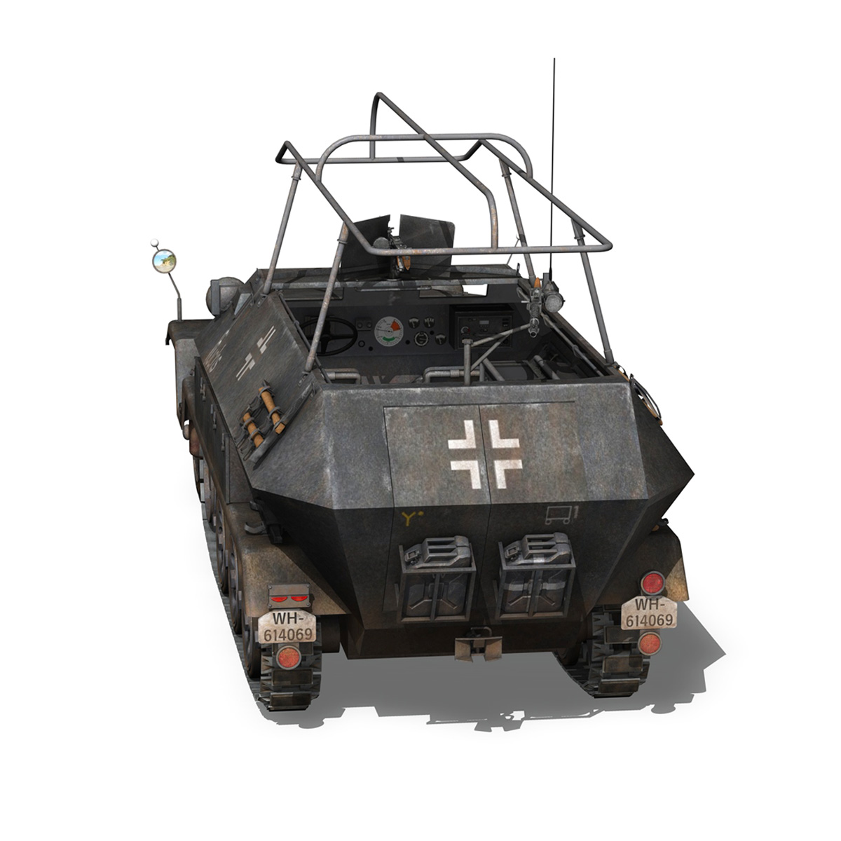 sd.kfz 251 ausf b – communications vehicle – 8pd 3d model 3ds fbx lwo lw lws obj c4d 292029