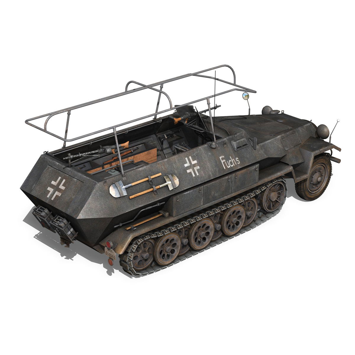 sd.kfz 251 ausf b – communications vehicle – 8pd 3d model 3ds fbx lwo lw lws obj c4d 292030