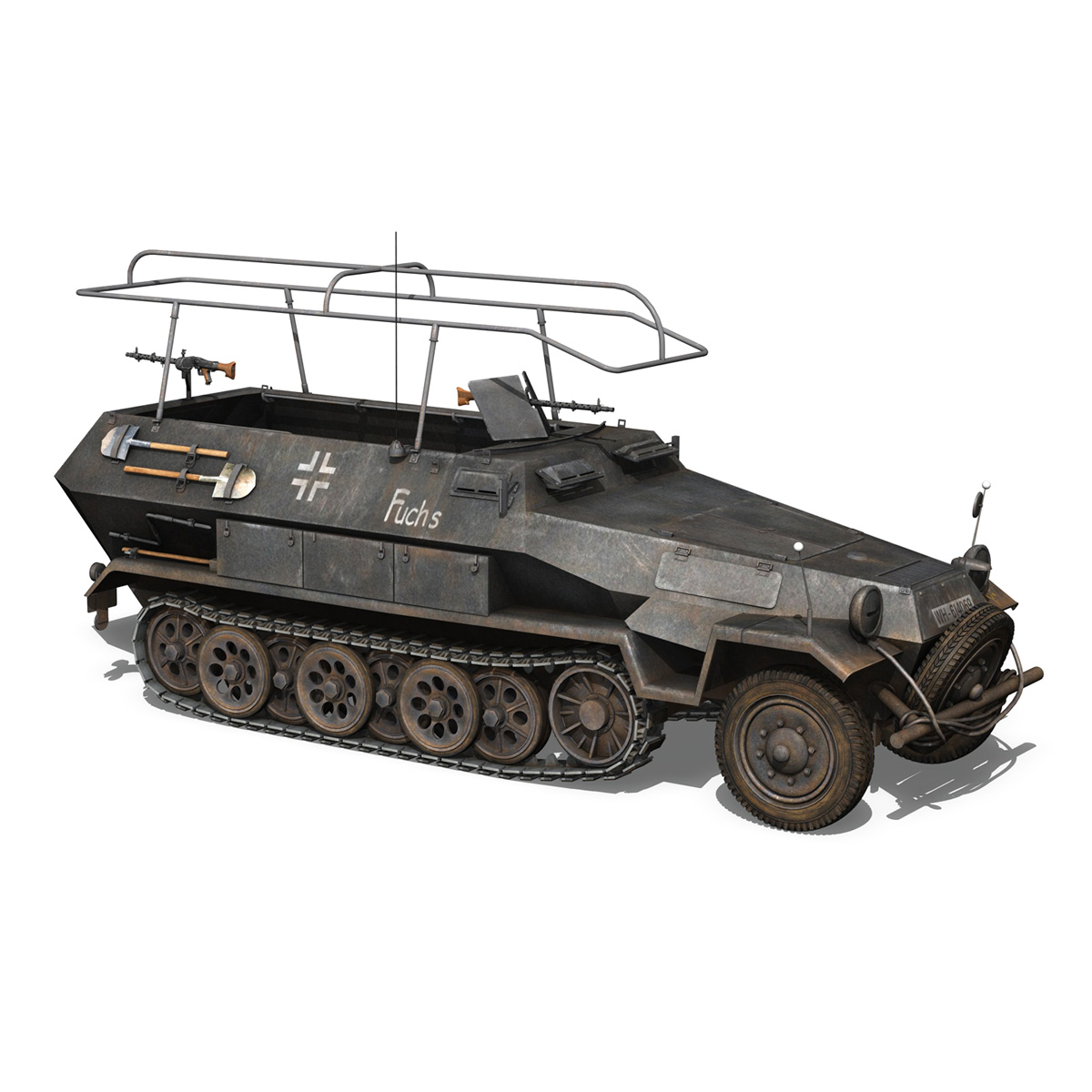 sd.kfz 251 ausf b – communications vehicle – 8pd 3d model 3ds fbx lwo lw lws obj c4d 292031