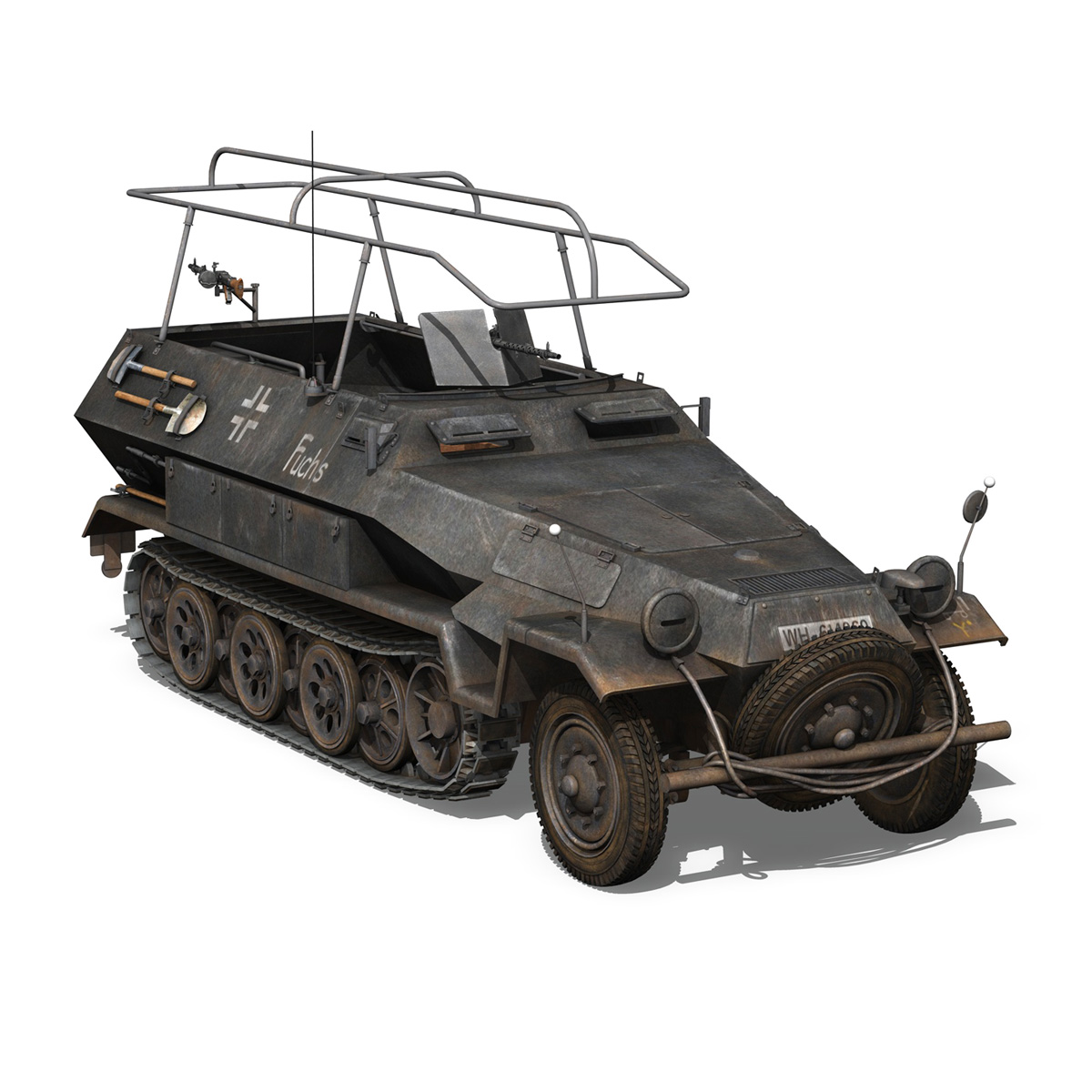 sd.kfz 251 ausf b – communications vehicle – 8pd 3d model 3ds fbx lwo lw lws obj c4d 292032
