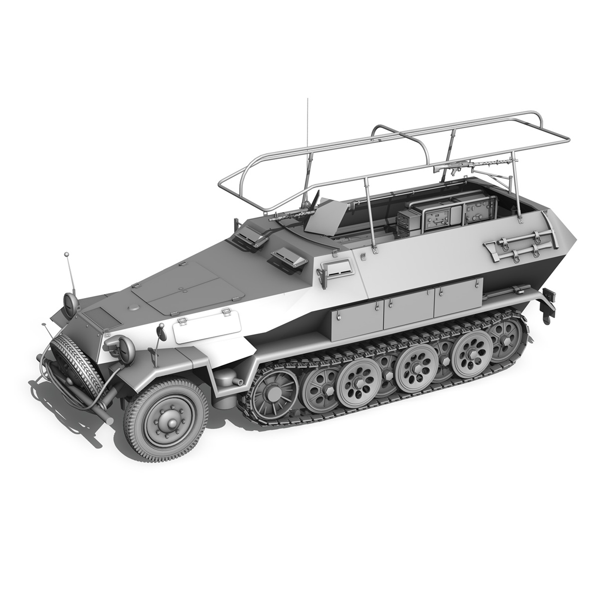 sd.kfz 251 ausf b – communications vehicle – 8pd 3d model 3ds fbx lwo lw lws obj c4d 292035