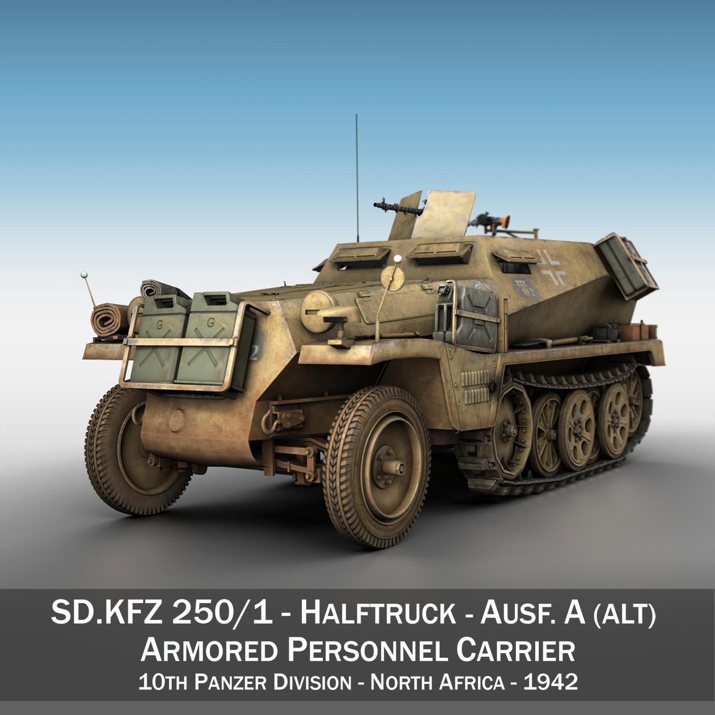 SD.KFZ 250/1 - Halftruck - 10PD 3d model 3ds fbx c4d lwo lws lw obj 292178