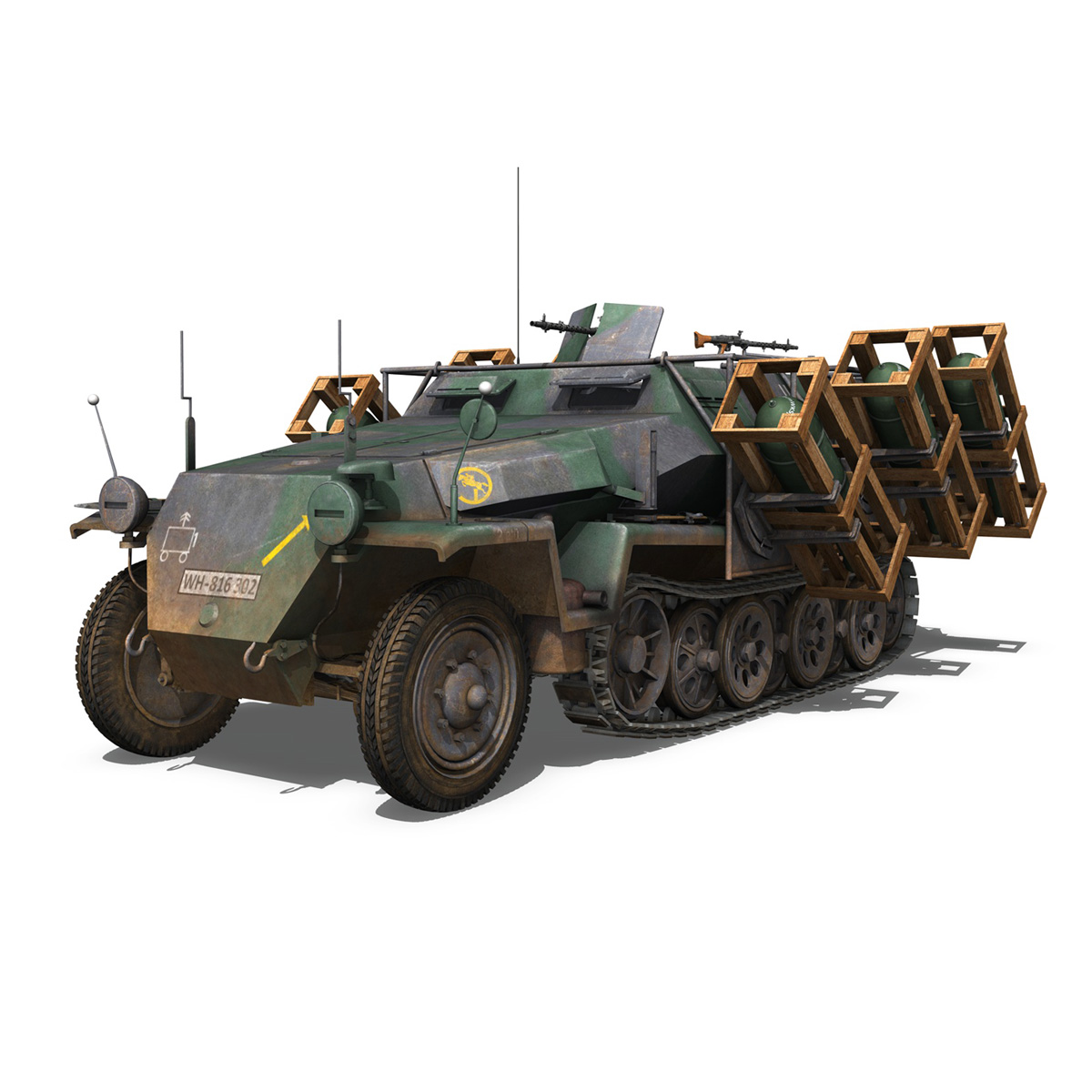 sd.kfz 251/1 ausf.c – ground stuka – 24pd 3d model 3ds fbx c4d lwo obj 292198