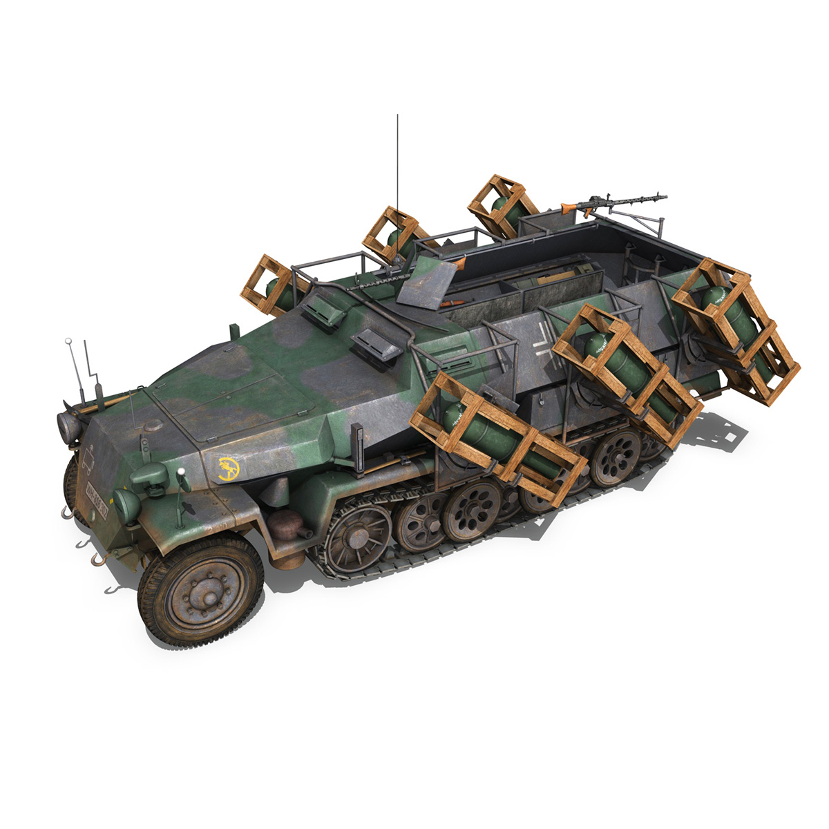 sd.kfz 251/1 ausf.c – ground stuka – 24pd 3d model 3ds fbx c4d lwo obj 292199